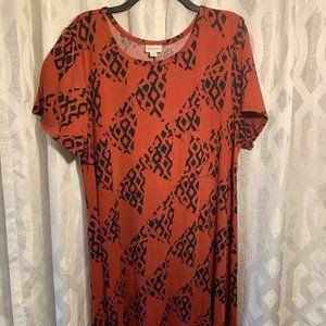 LuLaRoe Dress, Rust Color 3XL